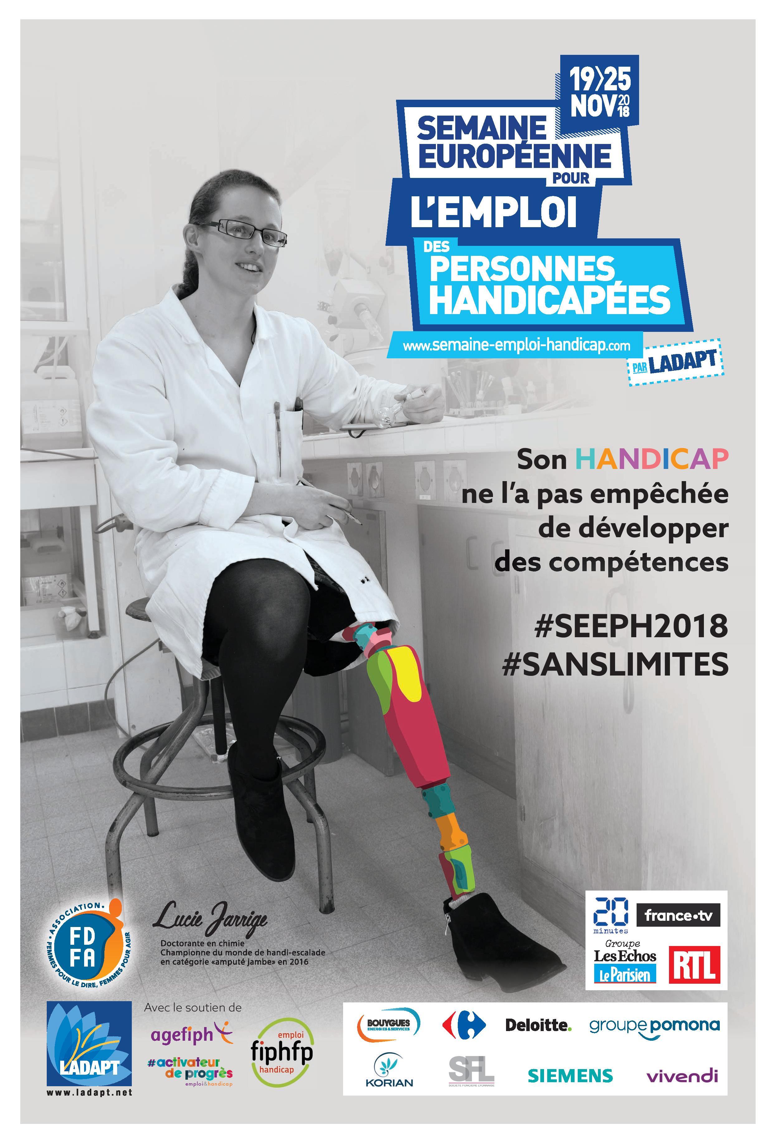 Cap Emploi de l'Adapei de l'orne, en lien avec ses partenaires, promeut l'insertion professionnelle des personnes handicapées auprès des entreprises à l'occasion de la SEEPH, du 19 au 23 novembre 2018