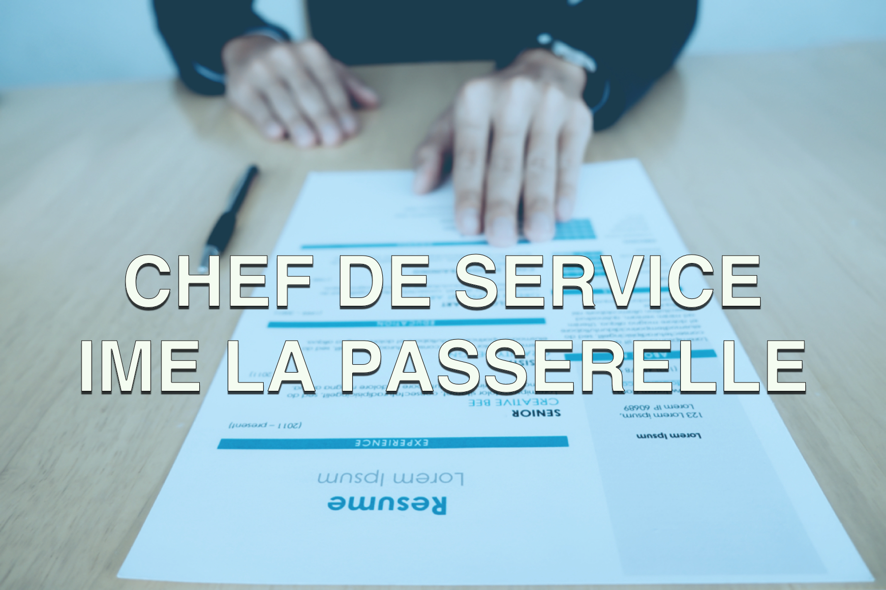 Offre d'emploi chef de service IME La Passerelle