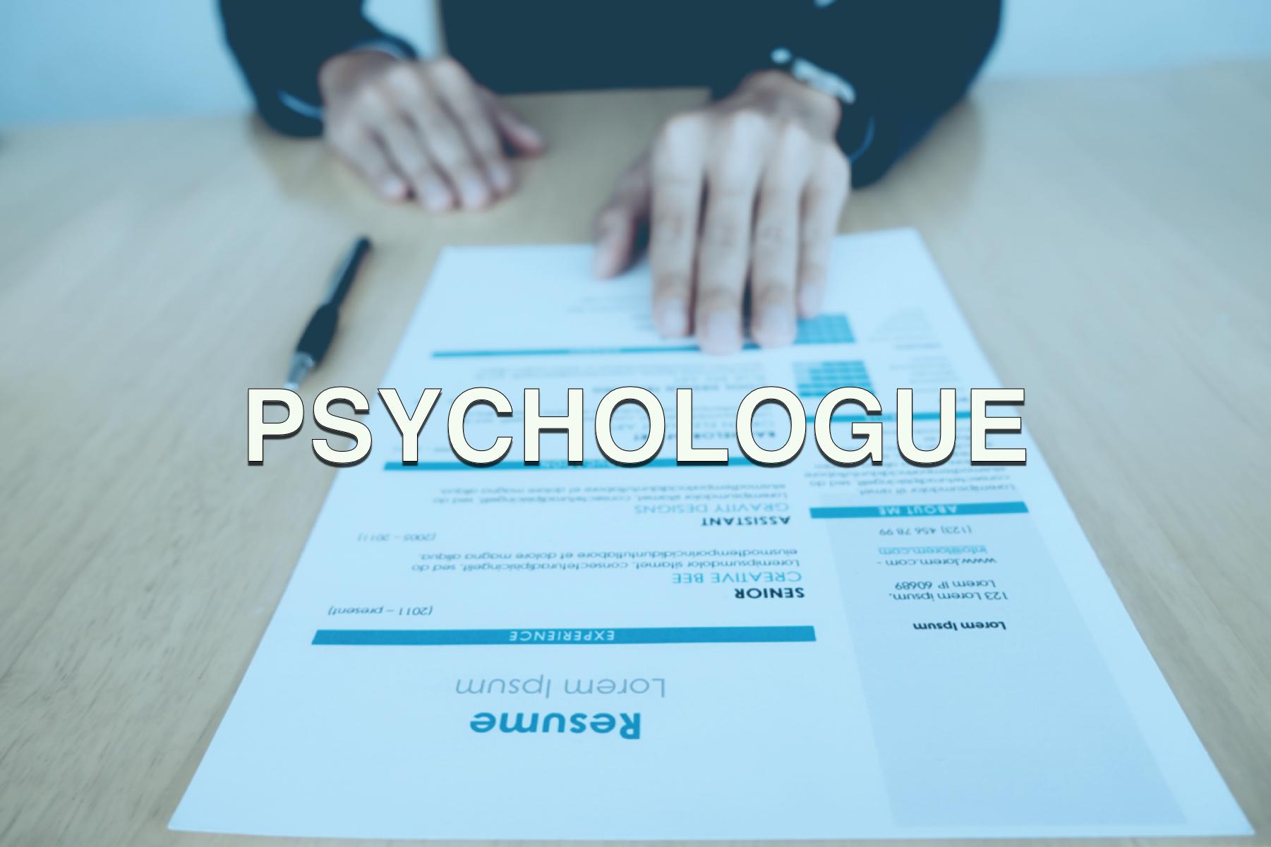Offre d'emploi psychologue