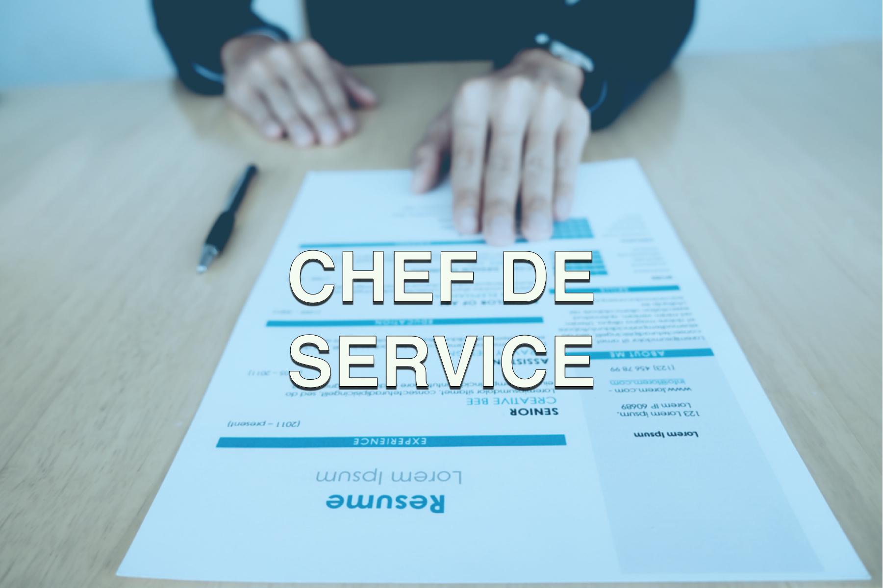 Offre d'emploi Chef de service